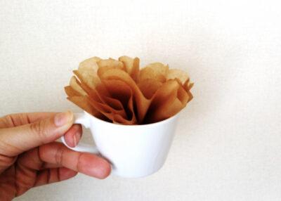 コップ+キッチンペーパー(コーヒーフィルター)で手作り加湿器